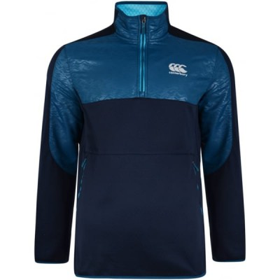 THERMOREG SPACER-FLEECE 1/4 ZIP RUN TOP - SKY CAPTAIN