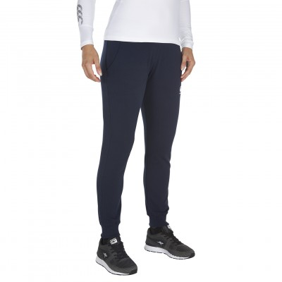 FLEECE CUFFED PANTS - NAVY
