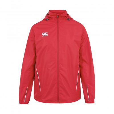 TEAM FULL ZIP RAIN JKT JR - FLAG RED/WHITE