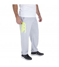 CORE CUFFED SWEAT PANTS - PALE GREY MARL/SAFETY YELLOW