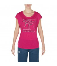 VAPODRI CCC GRAPHIC TEE  - FUSHIA RED