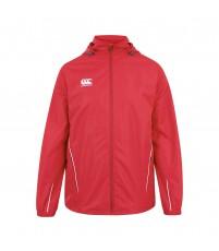 TEAM FULL ZIP RAIN JKT JR - FLAG RED/WHITE